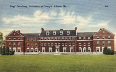 Boys' Dormitory, University of GA - Athens, Georgia GA Postcard