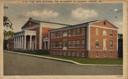 Fine Arts Building, University of GA - Athens, Georgia GA Postcard