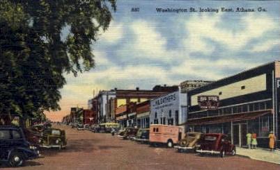 Washington St. - Athens, Georgia GA Postcard