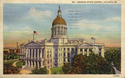 GA State Capitol - Atlanta, Georgia GA Postcard