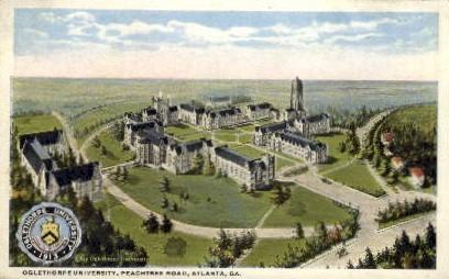Oglethorpe University, Peachtree Rd. - Atlanta, Georgia GA Postcard