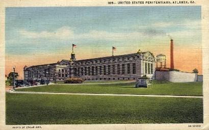 U.S. Penitentiary - Atlanta, Georgia GA Postcard