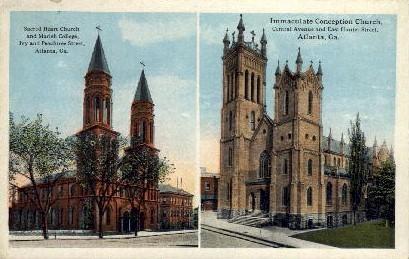 Sacred Heart Church  - Atlanta, Georgia GA Postcard