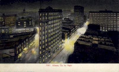 Georgia at Night - Atlanta Postcard