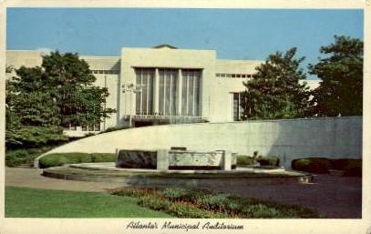 Municipal Auditorium - Atlanta, Georgia GA Postcard