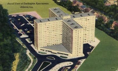 Aerial View of Darlington Apartments - Atlanta, Georgia GA Postcard