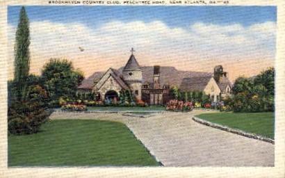 Brookhaven Country Club, Peachtree Rd. - Atlanta, Georgia GA Postcard