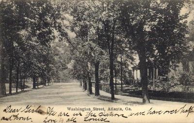 Washington St. - Atlanta, Georgia GA Postcard