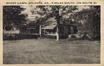 Shady Lawn - Atlanta, Georgia GA Postcard