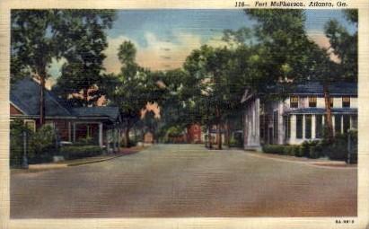 Fort McPherson - Atlanta, Georgia GA Postcard