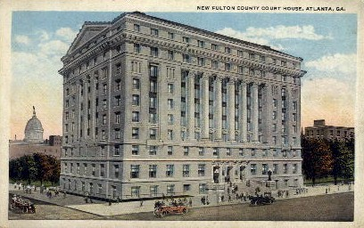 New Fulton County Court House - Atlanta, Georgia GA Postcard