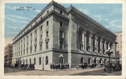 Post Office - Atlanta, Georgia GA Postcard