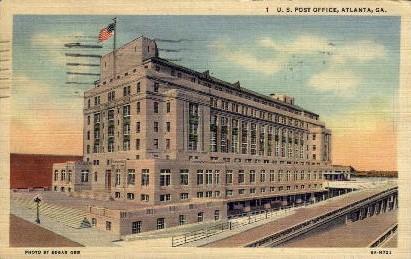 U.S. Post Office - Atlanta, Georgia GA Postcard
