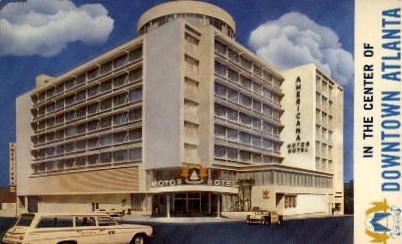 Center of Downtown Atlanta - Georgia GA Postcard