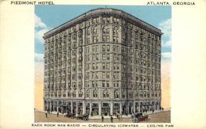 Piedmont Hotel - Atlanta, Georgia GA Postcard
