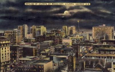 Skyline - Atlanta, Georgia GA Postcard