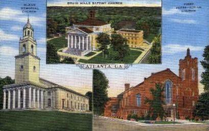 Glenn Memorial Church - Atlanta, Georgia GA Postcard