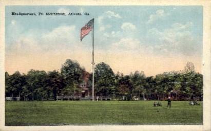 Headquarters, Ft. McPherson - Atlanta, Georgia GA Postcard