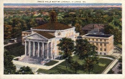 Druid Hills Baptist Church - Atlanta, Georgia GA Postcard