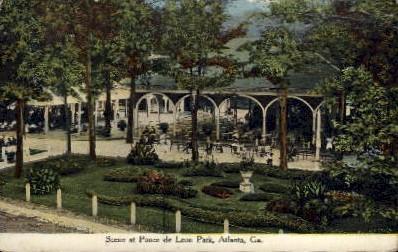 Ponce de Leon Park - Atlanta, Georgia GA Postcard
