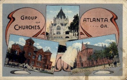 Group of Churches - Atlanta, Georgia GA Postcard