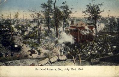 Battle of Atlanta - Georgia GA Postcard
