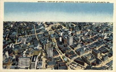 Proposed Plaza - Atlanta, Georgia GA Postcard