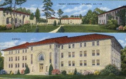 Emory University - Atlanta, Georgia GA Postcard