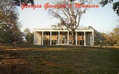 Georgia Governor's Mansion - Atlanta Postcard