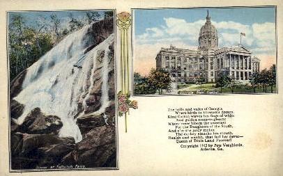 Tallulah Falls, GA State Capitol - Atlanta, Georgia GA Postcard