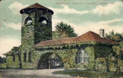 Westview Cemetery - Atlanta, Georgia GA Postcard