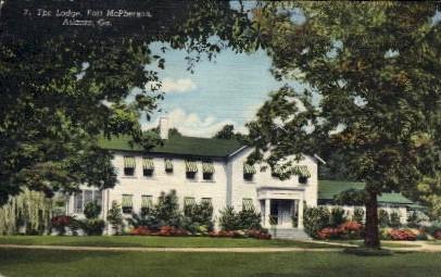 The Lodge, Fort McPherson - Atlanta, Georgia GA Postcard