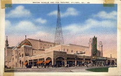 Shrine Mosque and Fox Theatre - Atlanta, Georgia GA Postcard