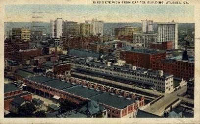 Aerial View - Atlanta, Georgia GA Postcard