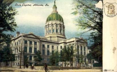 State Capitol - Atlanta, Georgia GA Postcard