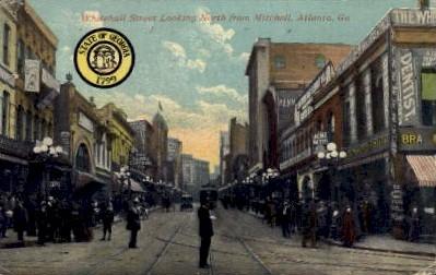 Whitehall St. - Atlanta, Georgia GA Postcard