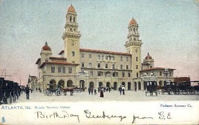 Terminal Station - Atlanta, Georgia GA Postcard