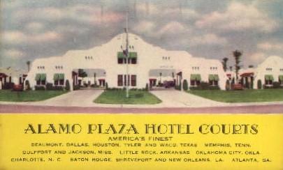 Alamo Plaza Hotel Courts - Atlanta, Georgia GA Postcard