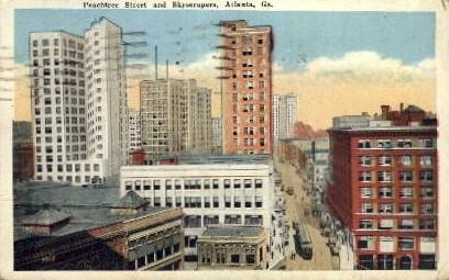 Peachtree St. - Atlanta, Georgia GA Postcard