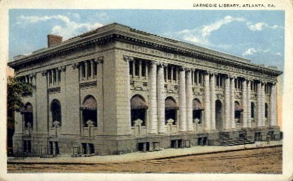 Carnegie Library - Atlanta, Georgia GA Postcard