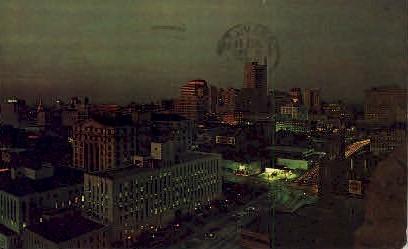 Night Skyline of Downtown - Atlanta, Georgia GA Postcard