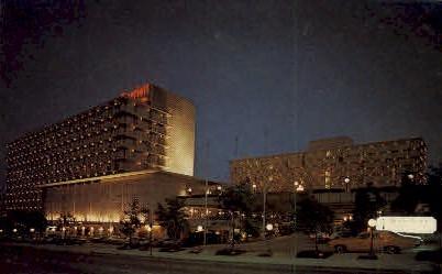 Marriott, Courtland and Cain Streets - Atlanta, Georgia GA Postcard