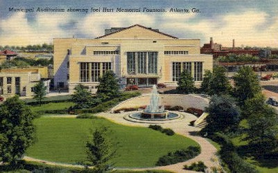 Joel Hurt Memorial Fountain - Atlanta, Georgia GA Postcard