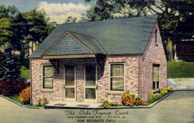 The Oak's Tourist Court - Atlanta, Georgia GA Postcard