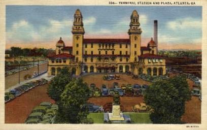 Plaza, Terminal Station - Atlanta, Georgia GA Postcard