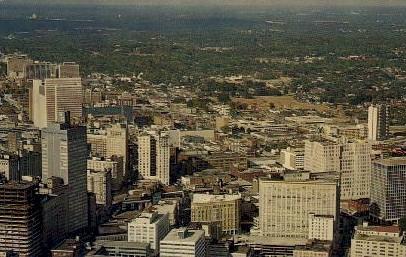 Aerial View of Downtown - Atlanta, Georgia GA Postcard