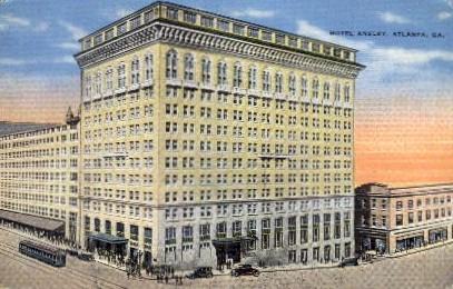 Hotel Ansley - Atlanta, Georgia GA Postcard