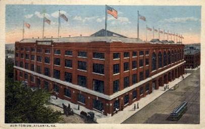 Auditorium - Atlanta, Georgia GA Postcard