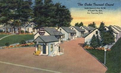 The Oak's Tourist Court - Atlanta, Georgia GA Postcard