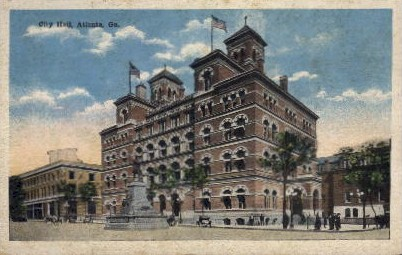 City Hall - Atlanta, Georgia GA Postcard